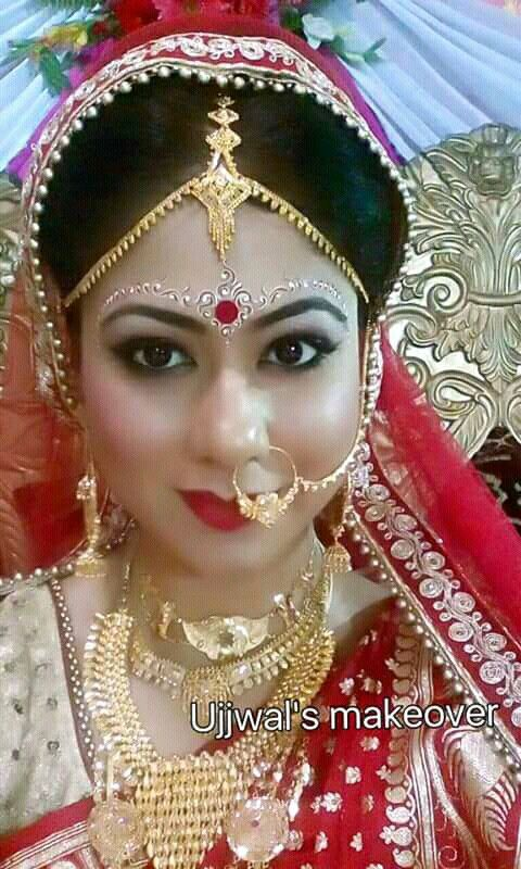 Pin by Piu Bhaskar on bride forehead makeup in 2019 | Bengali bridal makeup, Bengali bride, Hindu bride