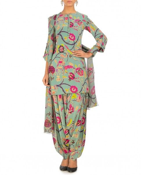 Chintz Print Kurta Patiala Set