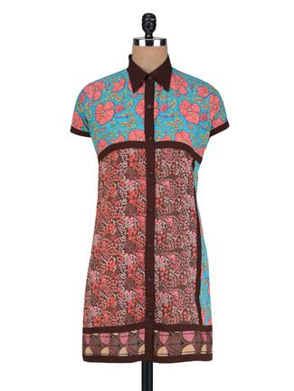 Buy Vastra Vinod Floral Printed Multicolor Cotton Tunic Online, , LimeRoad