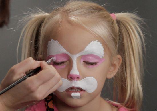 Sweet bunny face paint