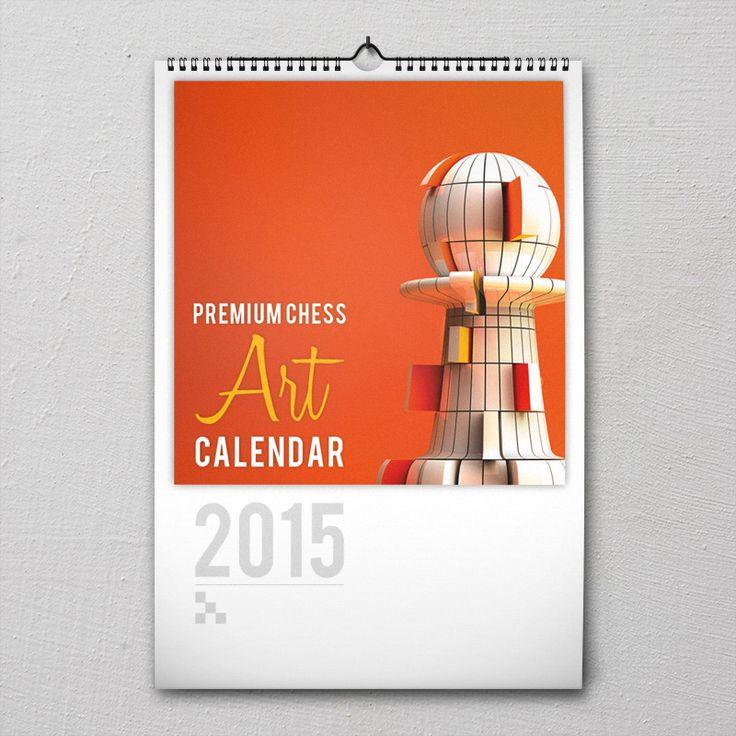 Premium Chess Art Calender 2015 #PremiumChessArtCalender #PremiumChess #chess #art #calender #kalender #LikeableDesign #illustration #3Dartwork #3Ddesign #chesspieces #chessart