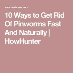 10 Ways to Get Rid Of Pinworms Fast And Naturally   HowHunter