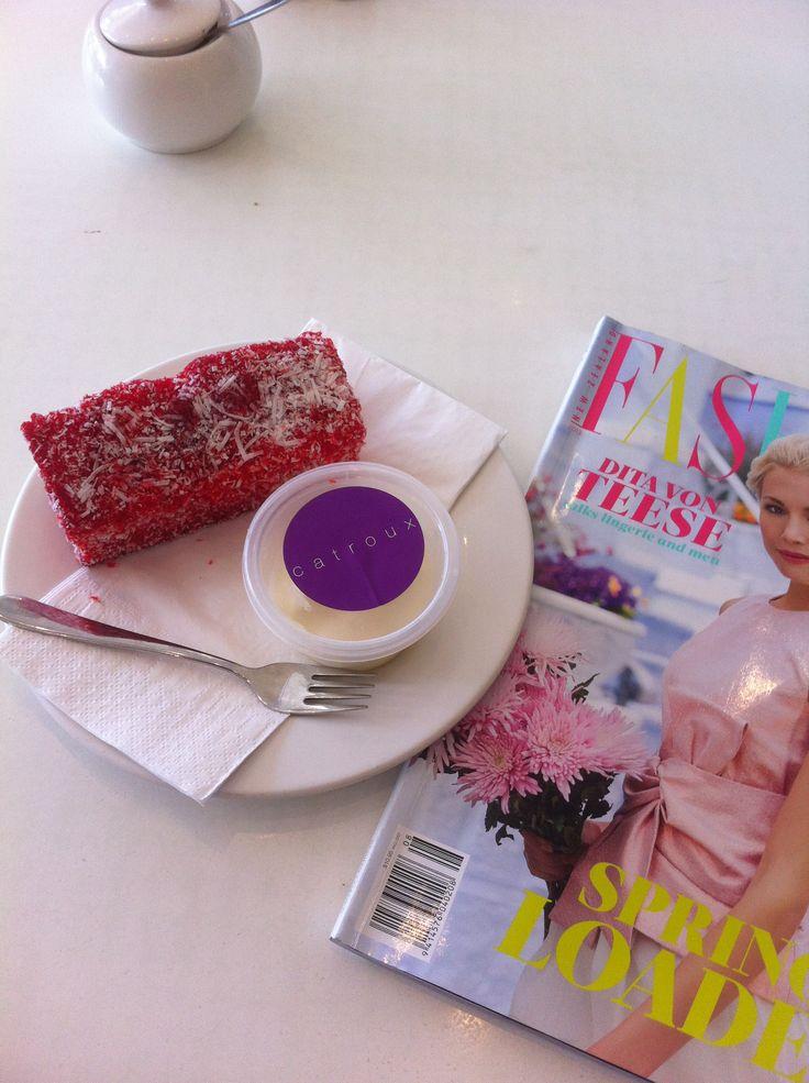 Girly Tea of Pink Lamington and Fashion magazine