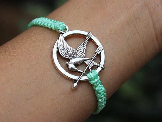 Mockingjay pin braceletcatching fire braceletHunger by KiwiGift, $9.99
