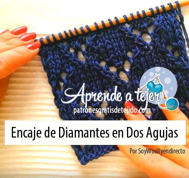 Crochet y Dos agujas: Aprende a Tejer Encaje Fácil en Dos Agujas / Tutor...
