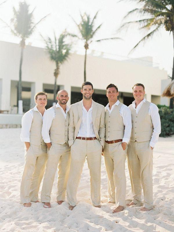 37672c346f Beach Wedding Attire for the Groom and Groomsmen | A Beach Chic Wedding in  Tulum by Michelle Boyd Photography #beachwedding #BeachWeddings ...