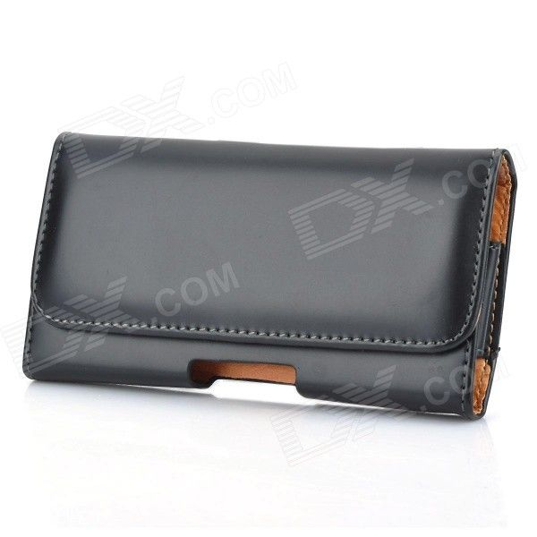 Black Protective PU Leather Case w/ Belt Clip for Nokia Lumia 920