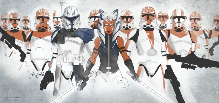 Work inspired by the unreleased Clone Wars Siege of Mandalore arc. Ahsoka and her troops. You can buy this print here!