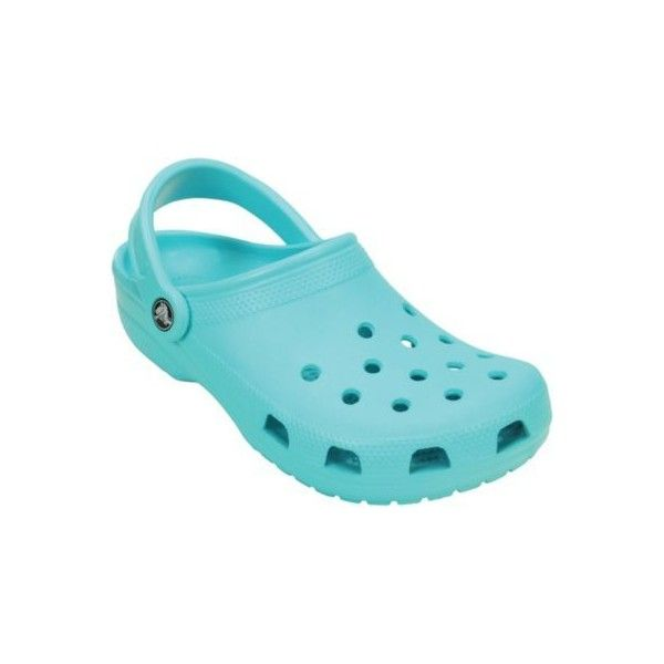 Crocs Unisex Original Classic Clogs ($25) ❤ liked on Polyvore featuring shoes, clogs, pool teal, unisex shoes, crocs shoes, clogs footwear, teal shoes and crocs footwear