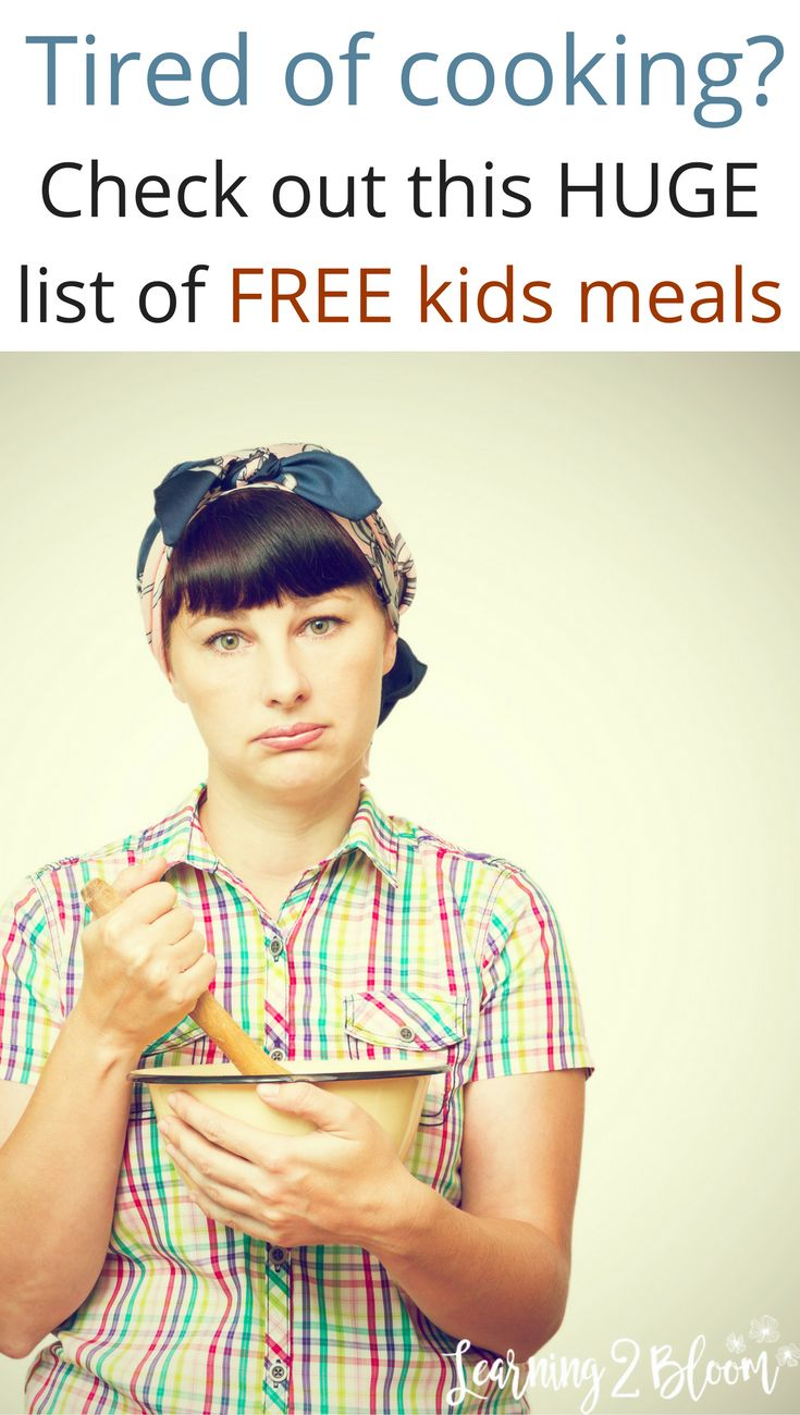 Are you tired of cooking in the kitchen? Check out this huge list of free or cheap kids meals that your kids will love. Perfect for school breaks when they're home and you would rather spend your time with your kids than slaving away at the stove.