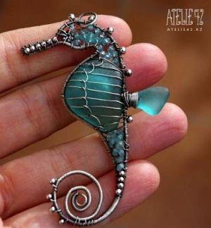 How to make pendants with wire and stones, Como hacer dijes con alambres y piedras : cositasconmesh by Ink-de-l'Art