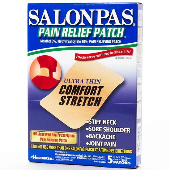 Best Topical Pain Relief: Salonpas Pain Relief Patch---need to test these out