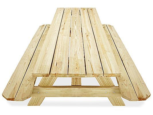 Economy A Frame Wooden Picnic Table 6 H 2999 Uline Wooden