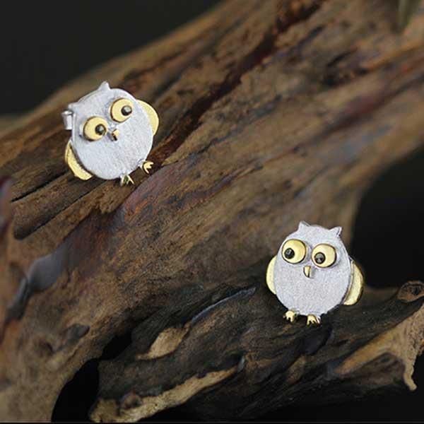 Twit Too Woo, we're waiting for you!  These adorable sterling silver stud little owl earrings are small yet perfectly formed, very much like their name sake (The Little Owl).   #figandwattle #owl #earrings #bird #silver #jewellery #littleowl #supercute
