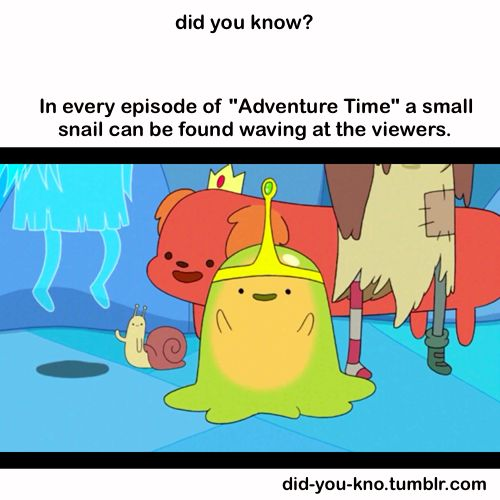 "The only episode not to feature this snail is ""Trouble in Lumpy Space"".  http://adventuretime.wikia.com/wiki/Snail"