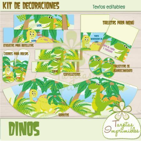 1000 images about dinosaures grrrrr on pinterest space - Decoraciones de cumpleanos ...