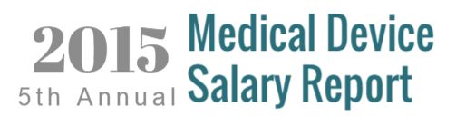 The #2015 #meddevice salary report was released from #MedReps.com
