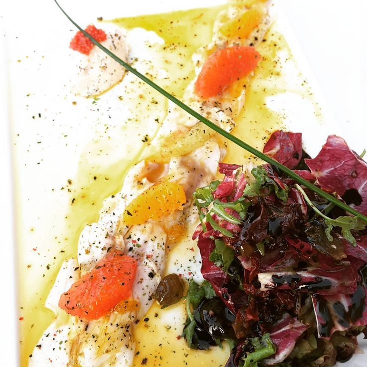 Sea bass carpaccio, yum... 🍣🍤 #fish #seabass #carpaccio #seafood #dinner #Halkidiki #Greece #instafood #instalike #summer #summervibes #holiday #holidays #vacation #yum #yummy #nom #nomnom #nomnomnom