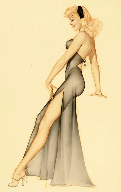 Alberto Vargas    This lovely lady appeared in December 1946.