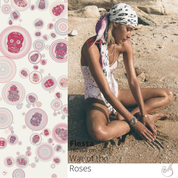 Need some inspiration for your summer vacation? Take a look at our #scarves #capsulecollection on www.mscarves.ro. #digitalprint #silk #diadelosmuertos #fashion #inspiration #moodboard
