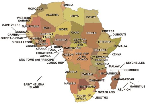 Cape Verde Africa Map | Map Of Africa
