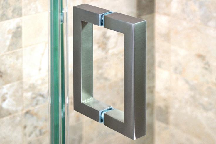 Brushed Nickel Square Shower Door Handle