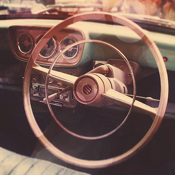 Vintage Car Photography  Vintage Steering Wheel by GoldenShutter, $20.00