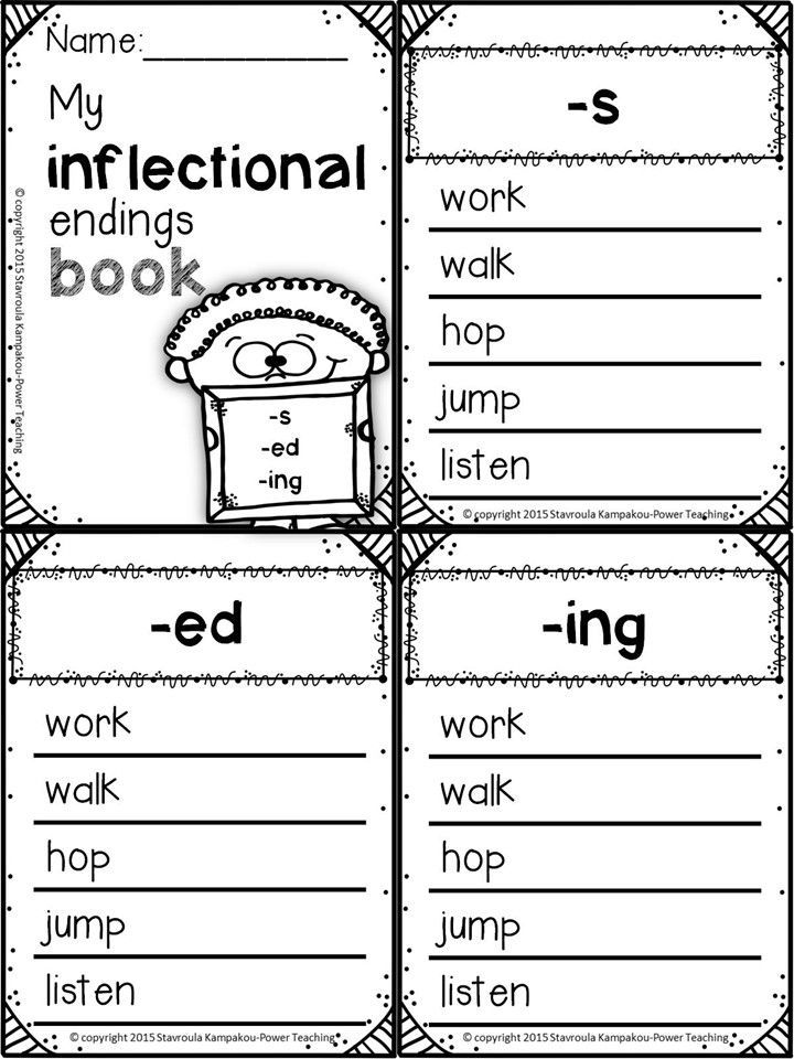Inflectional Endings Inflectional Word Endings S Ed Ing Er St Inflectional Endings Learning Google Classroom First Grade Words Suffix worksheets second grade