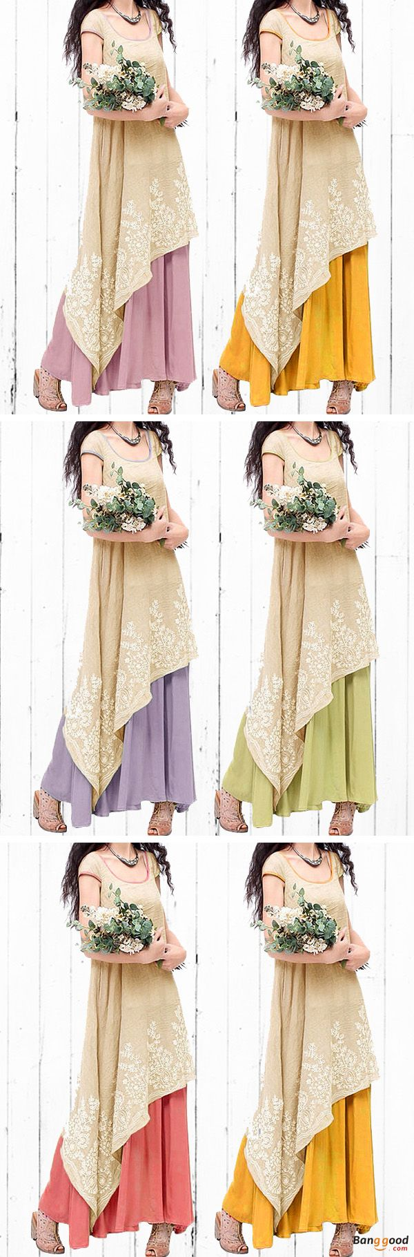 US$29.99+Free shipping. Size(US): S~5XL. Material: Cotton. Home or out, love this vintage and casual dress. Women Dresses, Long Dresses, Dresses Casual, Dresses for Teens, Summer Dresses, Summer Outfits, Retro Fashion.