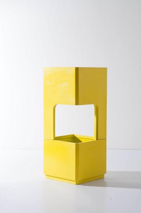 Series of Cliff - Yellow Green by TREE SQUARE #treesquarestudio #planter #furniture #design treesquare.studio@gmail.com