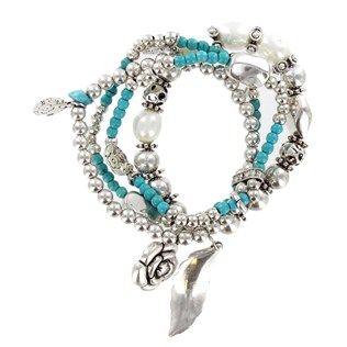 $7.99 Bridesmaid BraceletShops Hobbies, Hobbies Lobbies, Charm Bracelets, Turquoise Stretch, Stretch Charms, Charms Bracelets, Bridesmaid Bracelets, 7 99 Bridesmaid