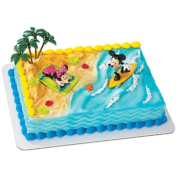 Mickey and Friends Surfer Cake Deco Set, Mickey Mouse Cake Topper, Mickey Beach Cake decorations