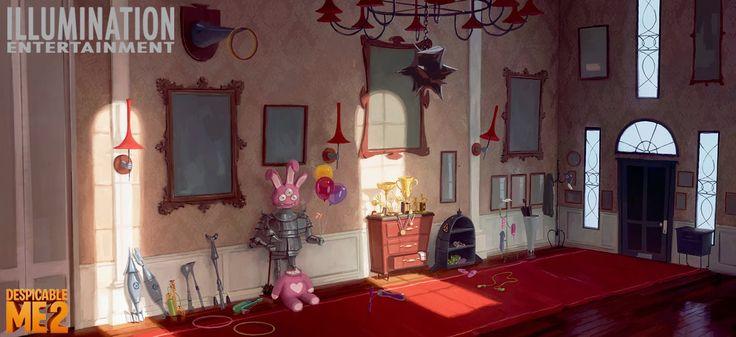 ART of CLEMENT GRISELAIN: Despicable Me 2 Sets Colors