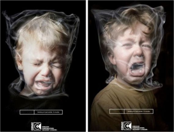 Creative stop smoking advertisements designed by various creative designers to make you quit smoking.