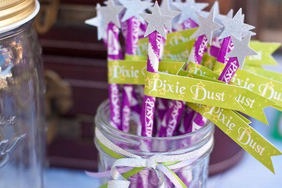Pixie Dust: Pixie dust wands.  Source: Miss Party Mom