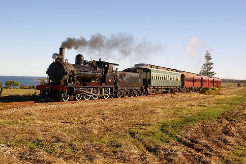 Steamranger between Goolwa and Victor Harbor South Australia