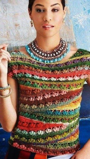 Crochet y dos agujas: Blusa de fiesta en crochet con patrón