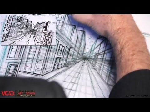 Free video tutorial on how to draw a city in One Point Perspective Part 3 of 5 Visual College of Art and Design of Vancouver  626 West Pender Street #500  Vancouver, BC V6B 1V9  (800) 356-8497    Watch full VCAD tutorial online: http://www.vcad.ca/sm-how-to-draw-a-city-in-one-point-perspective/  Subscribe to VCAD: http://youtube.com/subscription_center?add_user=VancouverVCAD  Like VCAD: http://facebook.com/VCAD.ca  #onepoint #city #drawing #tutorial #perspective