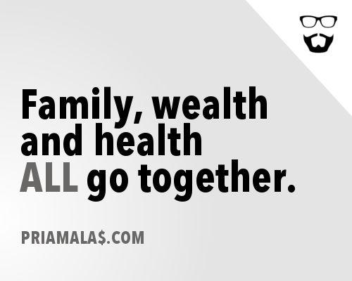 Keluarga, kesejahteraan dan kesehatan SEMUANYA adalah penting. #priamalas