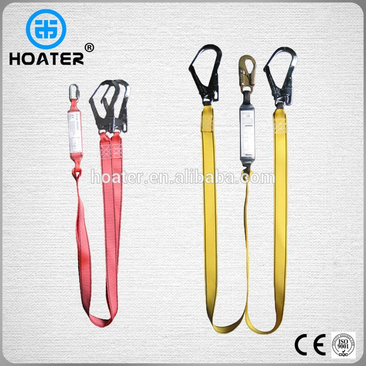 High Quality Safety Harness Double Hook Lanyard With Shock
