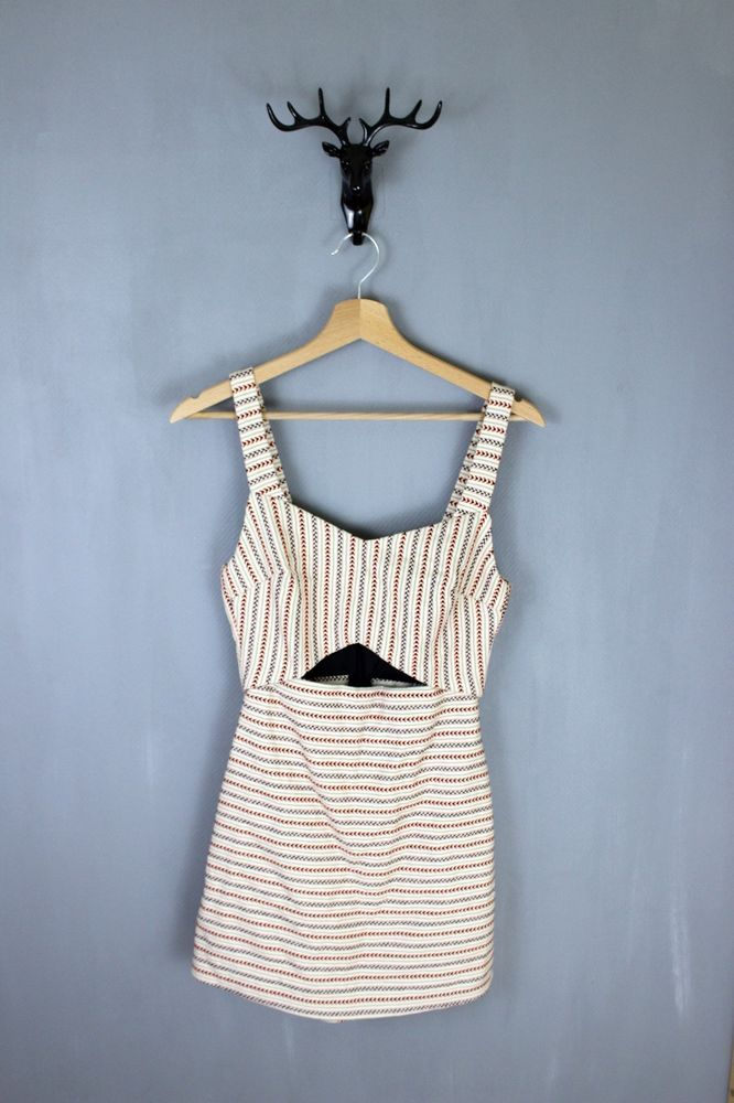 715a5cc81d25 ZARA BNWT striped white multi color cotton woman romper jumpsuit size XS UK  6  Zara