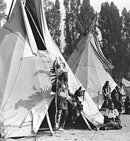 A tipi (also tepee and teepee) is a Lakota name for a conical tent traditionally made of animal skins and wooden poles used by the nomadic tribes and ... & 387 best Lodges images on Pinterest | Tipi Native american and ...