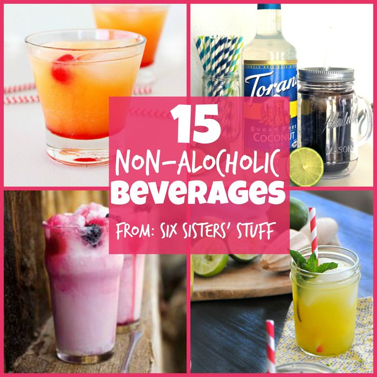 We love making fun drinks for New Years! These 15 Non-Alcoholic Drinks are my favorite! From SixSistersStuff.com