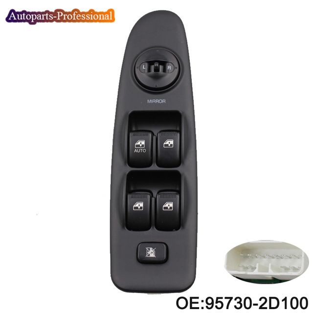 New Front Left Electric Master Power Window Switch Control Fit For Hyundai Elantra 2001 2002 2003 2004 2005 2006 93570 2d100 Re Hyundai Elantra Elantra Hyundai