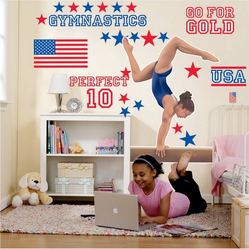 Perfect Gymnastics Wall Decals for Girls Bedroom - Modern Homes ...