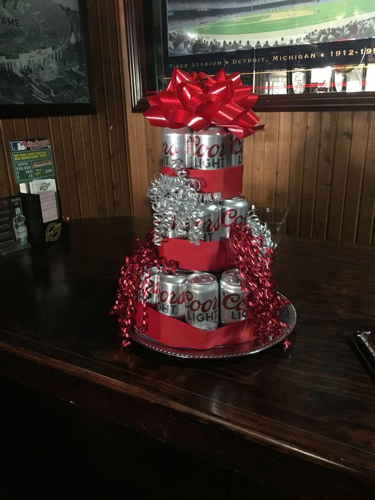 Beer cake tower!