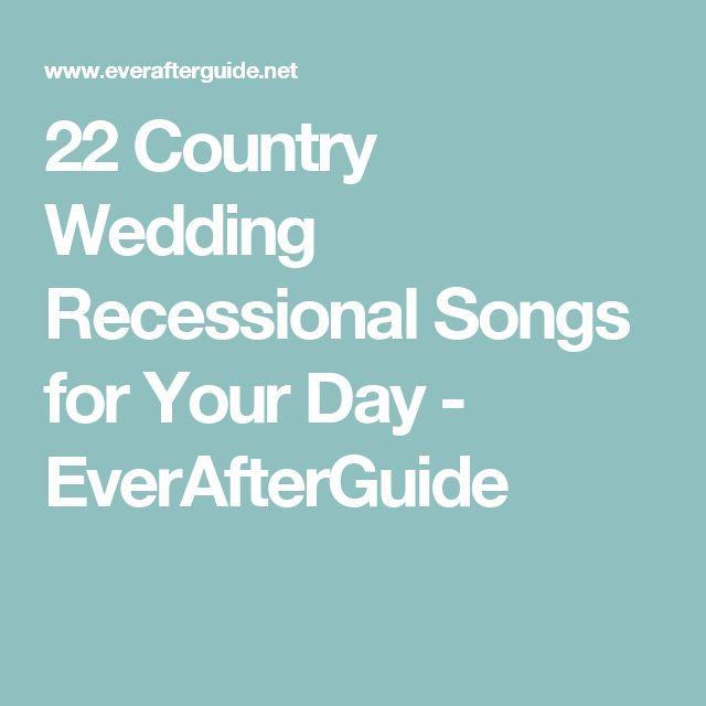 Best 25+ Wedding Recessional Ideas On Pinterest
