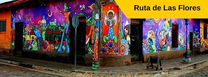 Atractivos turísticos y lugares a visitar en la Ruta de las Flores, El Salvador. Nahuizalco, Salcoatitan, Apaneca, Juayua y Concepción de Ataco.
