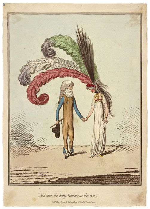 James Gillray | And Catch the Living Manners as They Rise | 1794 | The Morgan Library & Museum