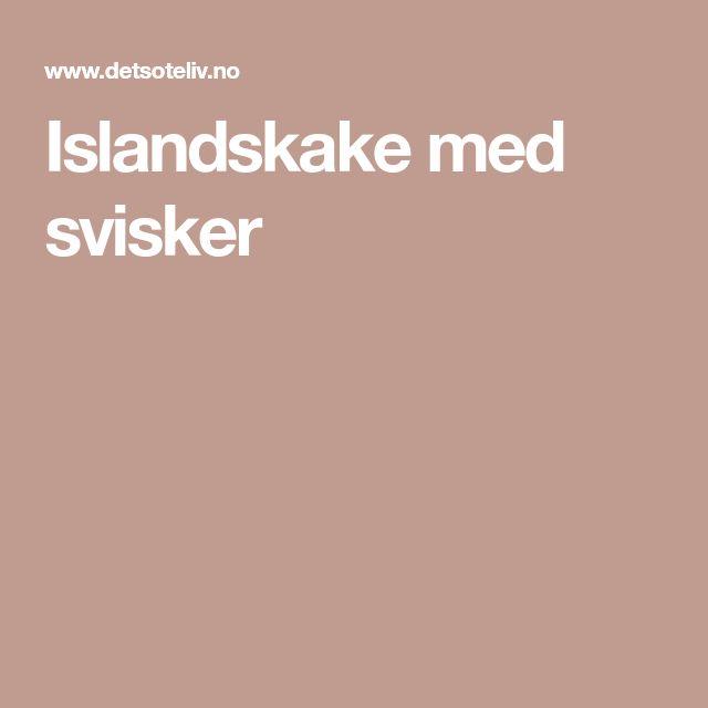 Islandskake med svisker